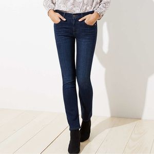 LOFT modern straight leg medium wash jeans 29/8